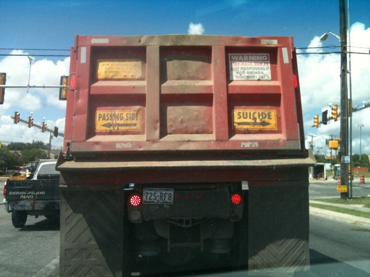Passing Side Suicide Truck Tail Gate