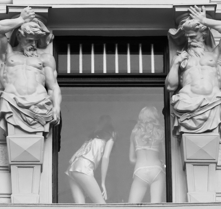 The Statues have Eyes Check Out Girls Underwear
