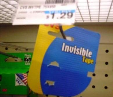 nice try staples invisible tape