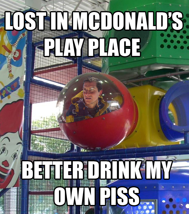 lost in mcdonalds play place