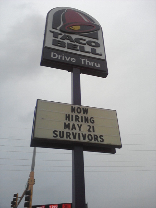 taco bell now hiring rapture survivors